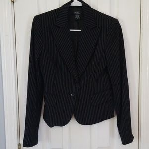 Pinstripe Black Blazer